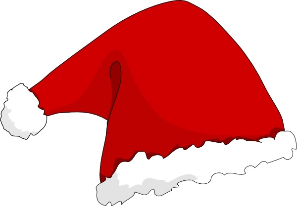 clothing santa hat clip art free vector in open office drawing svg rh all free download com free clipart santa hat and beard christmas clipart santa hat
