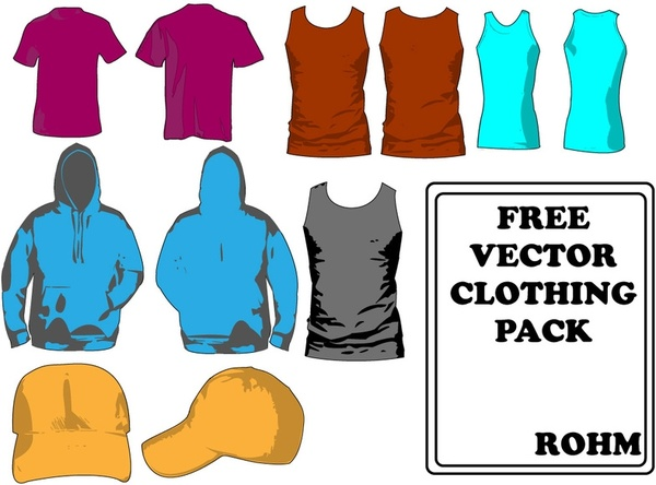 Clothing Templates Pack Free Vector 17546KB