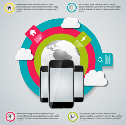 cloud tech concept template vector