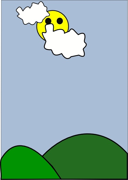 Cloudy Weather Clip Art Free Vector In Open Office Drawing