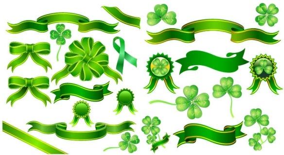 clover ribbon vector