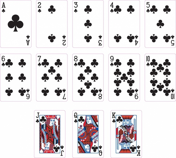 Club Suit Two Playing cards