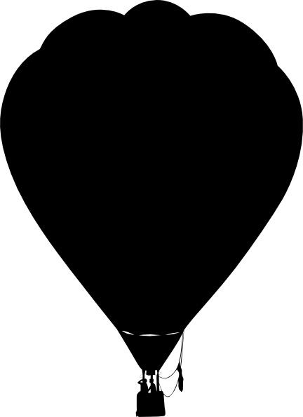 Balloon silhouette. Clue hot air outline