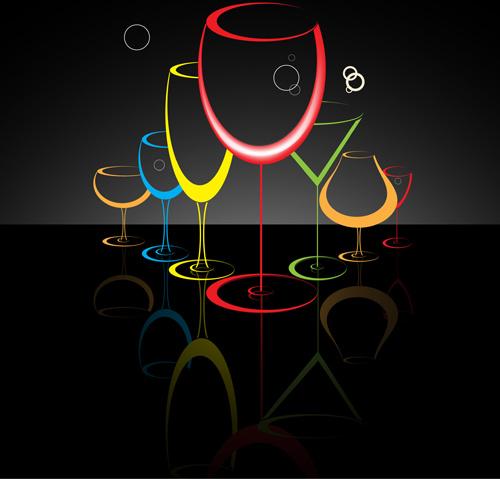 Cocktails Logos Creative Vector Free Vector In