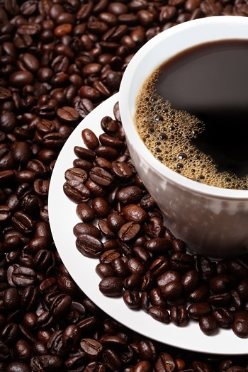 coffee and coffee beans closeup boutique picture
