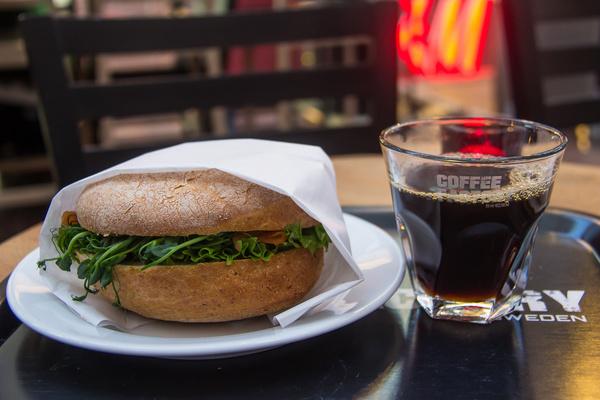 coffee and sandwich