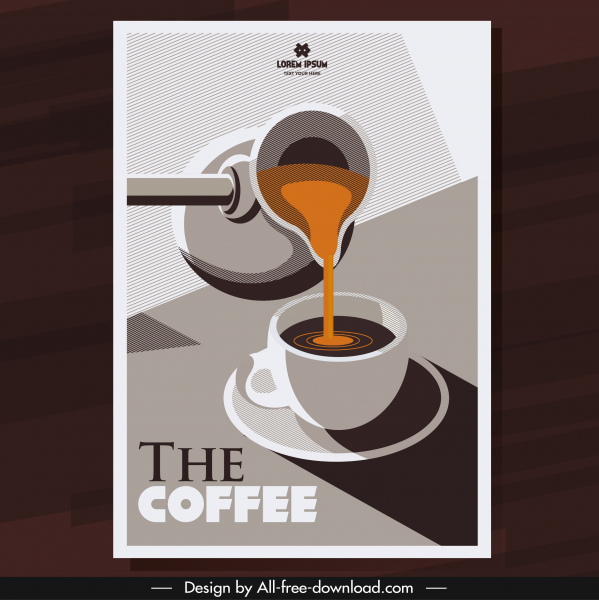 coffee background pouring sketch classical shadow decor