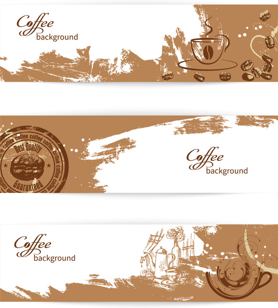 Coffee Banner Background Free Vector In Adobe Illustrator Ai Ai