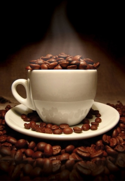 coffee beans coffee cup highdefinition picture 4