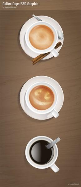 coffee cuppsd layered
