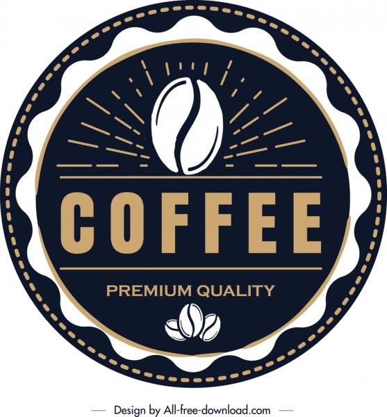 coffee logo template elegant classical circle design