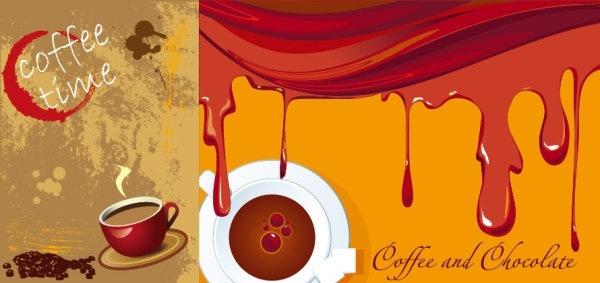 coffee theme vector