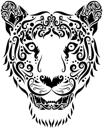 collection of hand drawn animal pattern vector