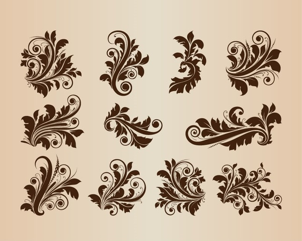 Floral corner flourish free vector download (9,870 Free ...