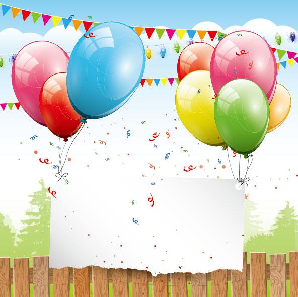 color balloon with festival design vector