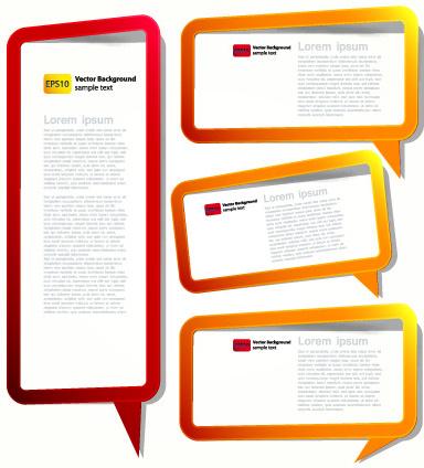 color hollow speech bubbles for text design vector