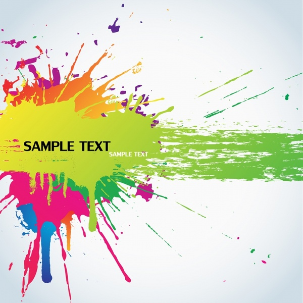 abstract background colorful grunge ink splatter decor