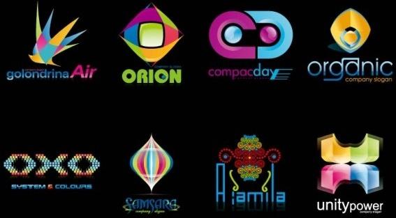 color logo template vector