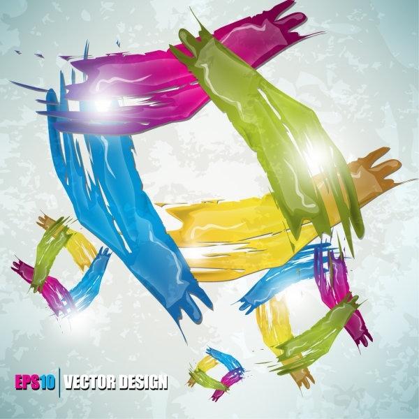 color paint splashes background 02 vector