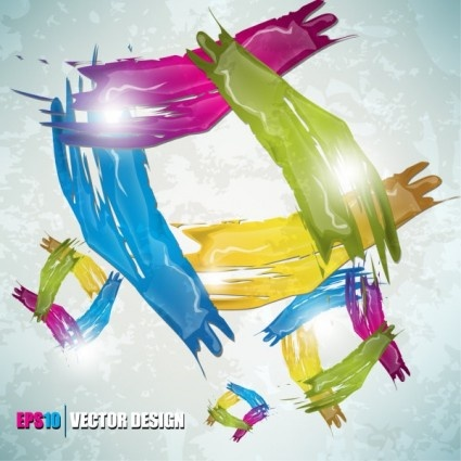 color paint splashes background vector