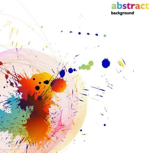 color paint splashes background vector illustration