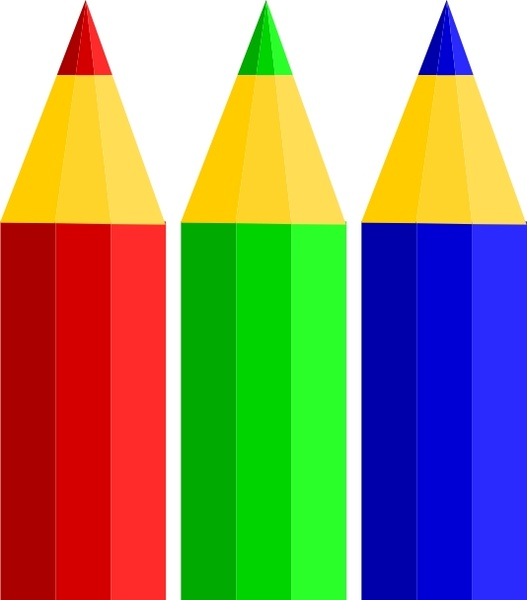 color pencils clip art free vector in open office drawing svg svg