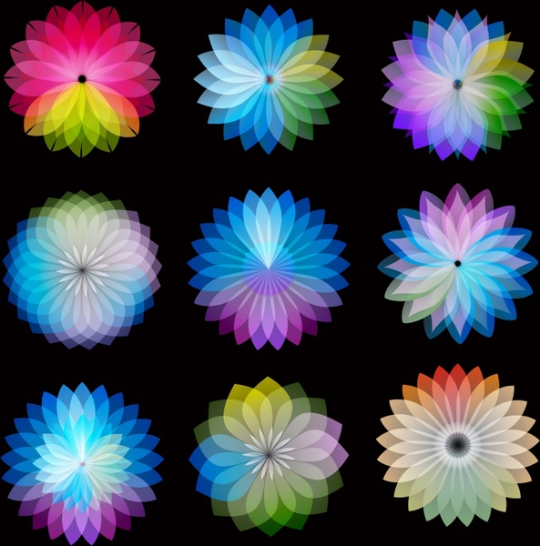 Color Wheel Flowers Free Vector In Adobe Illustrator Ai Ai