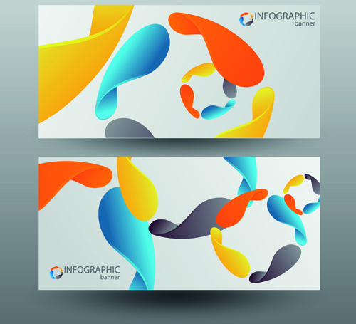 colored abstract infographics banner vector
