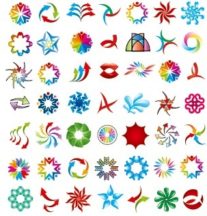 colored abstract vector logos