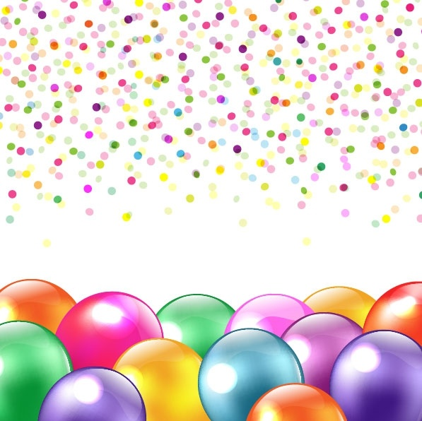 colored balloons 02 vector