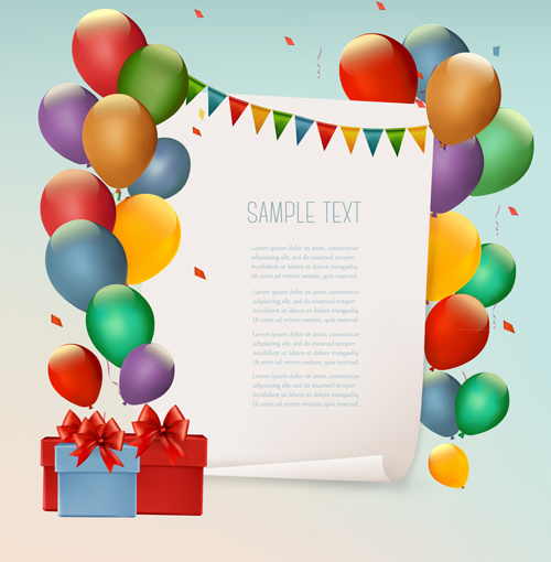 colored balloons holiday vector background