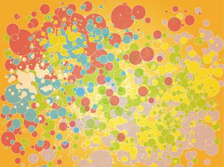 colored bockha vector orange background