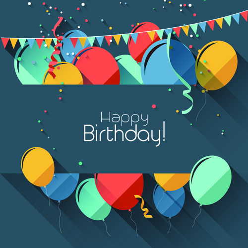 Happy Birthday Poster Background Free Vector Download
