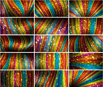 colored dynamic abstract art vector
