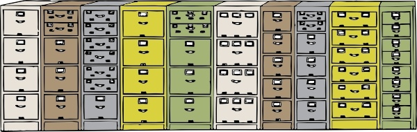 Colored Filing Cabinets Clip Art Free Vector 378 87kb