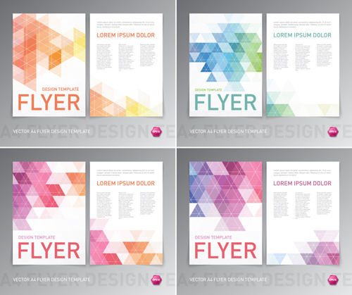 background colorful flyers free vector download  64 423