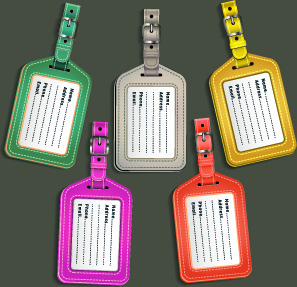 Colored leather tags design vector Free vector in