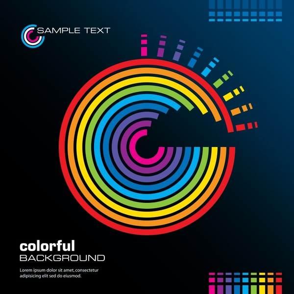 technology background modern colorful dynamic circles effect