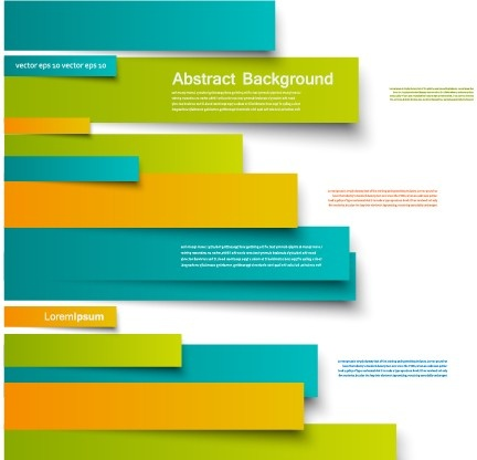 colored paper strip creative background vector