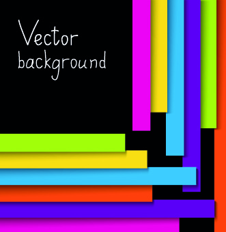 colored paper strips vector background