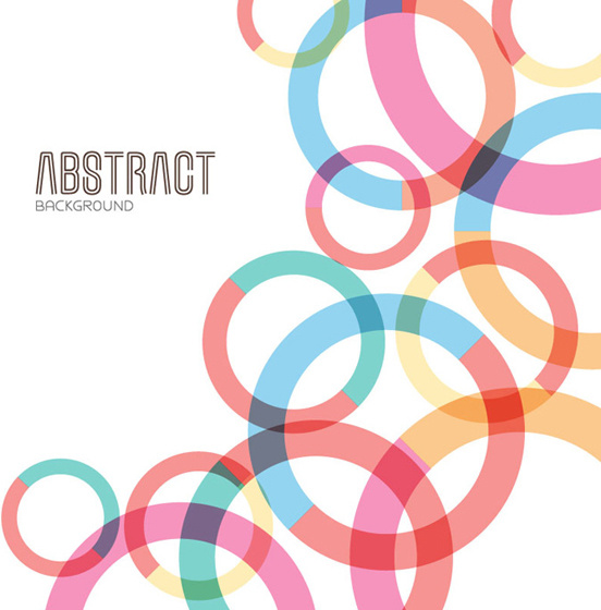 colored round abstract background vector