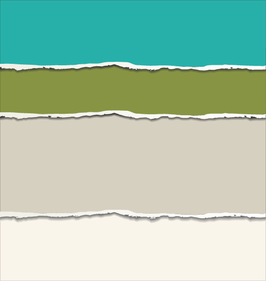Colored torn paper background vector template Free vector in ...