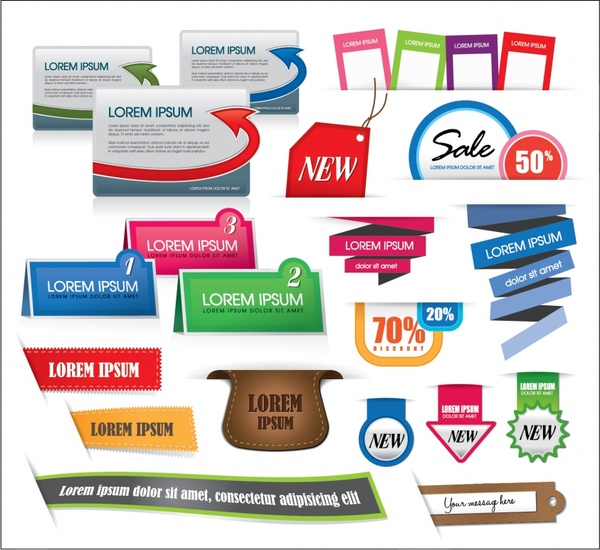 colored vector price tag tag