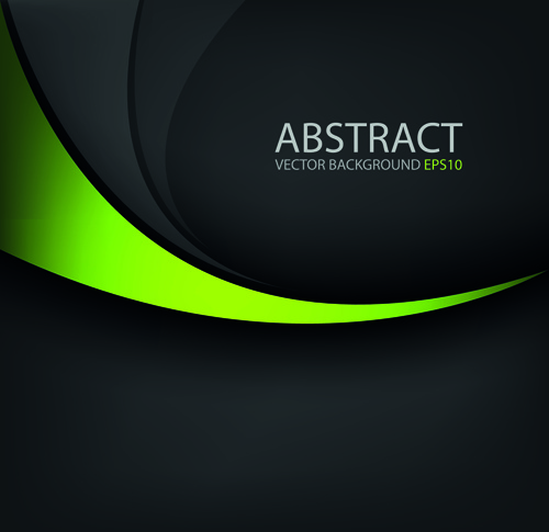 colored wave with black background vector