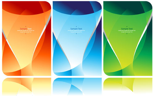 colorful abstract background elements vector
