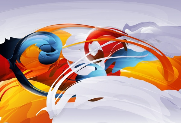 abstract painting colorful dynamic design
