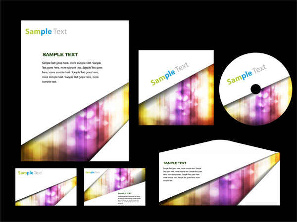 colorful abstract corporate identity template