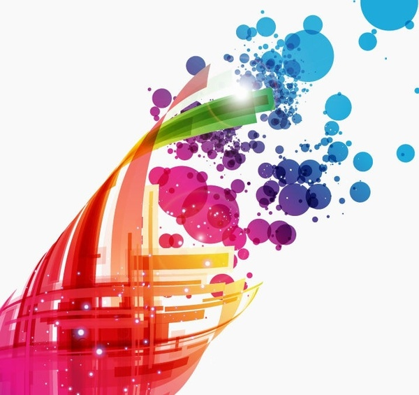 Colorful Abstract Design Background Vector Art