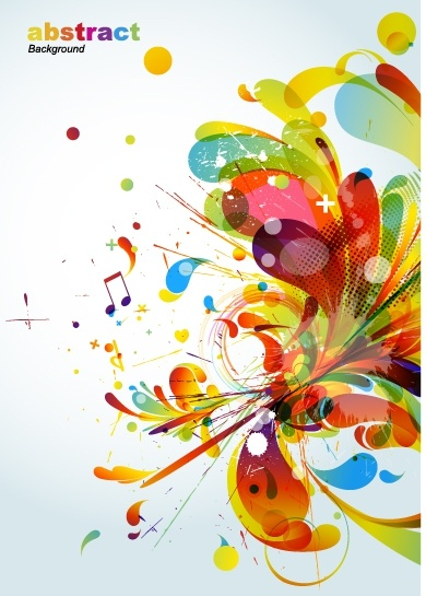 abstract background colorful dynamic explosion design