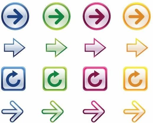 Colorful Arrows Vector Set